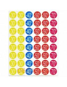 Etiquetas Adhesivas -Descuentos - 240 unidades