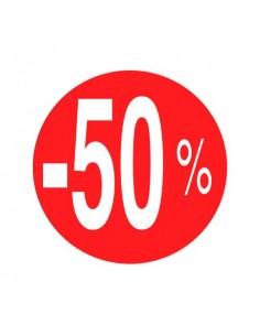 etiquetas-adhesivas--50%-rojo/blanco-rollo-500uds