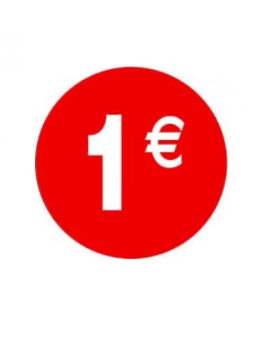 Pegaitnas 1€ rojo/blanco 3,5 cm. -  500 unidades