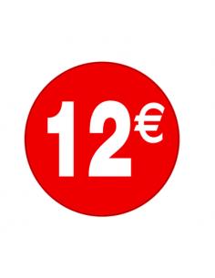 etiquetas-adhesivas-pegatinas-12€-rojo-blanco-redonda-medida-3,5-cm.-rollo 500uds