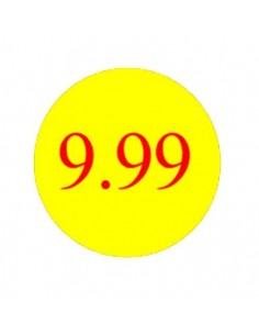 Etiquetas Adhesivas 9,99 Euros - 1.000 unidades