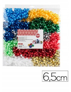 caja-moñas-adhesivas-surtidas-metalizadas-pastel-6,5-cm-100uds