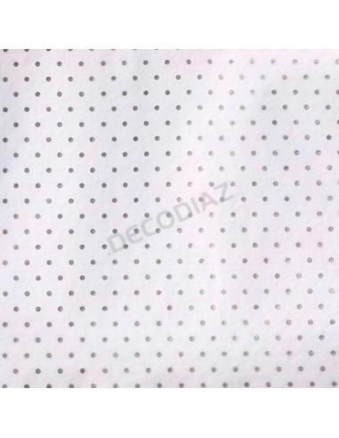 Papel Seda Diseño Topos Plata - 20 o...