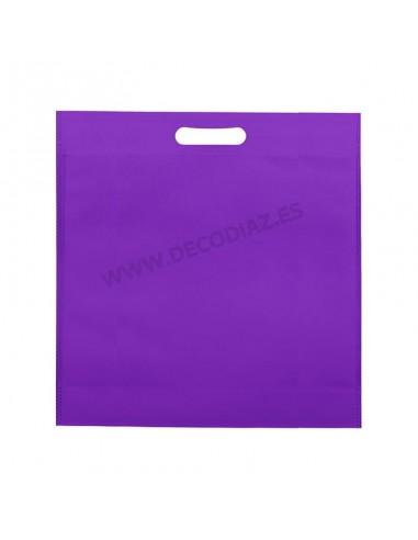 bolsas-morado-de-tejido-sin-tejer-asa-troquelada-50x45x10-cm-caja-200uds
