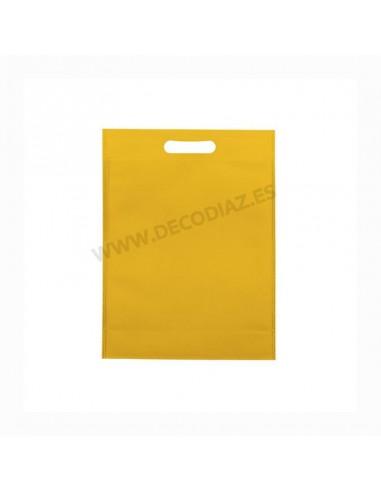 bolsas-amarilla-de-tejido-sin-tejer-asa-troquelada-17x22x6,5-cm-caja-200uds