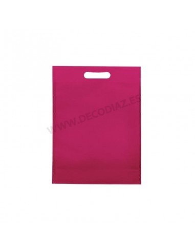bolsas-fucsia-de-tejido-sin-tejer-asa-troquelada-17x22x6,5-cm-caja-200uds