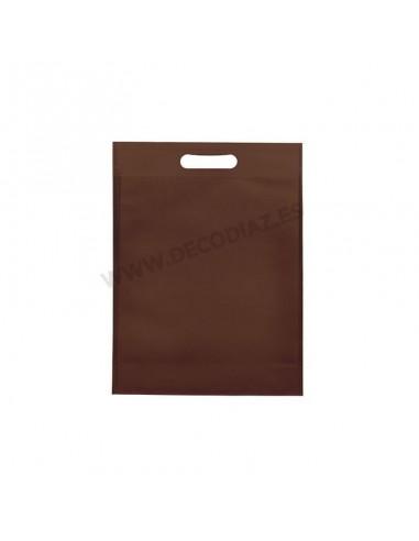 bolsas-marron-de-tejido-sin-tejer-asa-troquelada-17x22x6,5-cm-caja-200uds