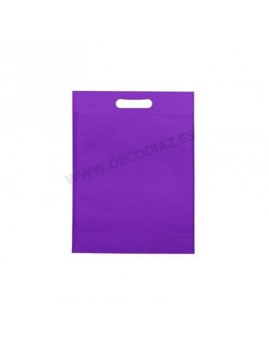 bolsas-morado-de-tejido-sin-tejer-asa-troquelada-17x22x6,5-cm-caja-200uds