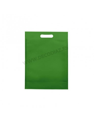 bolsas-verde-de-tejido-sin-tejer-asa-troquelada-17x22x6,5-cm-caja-200uds
