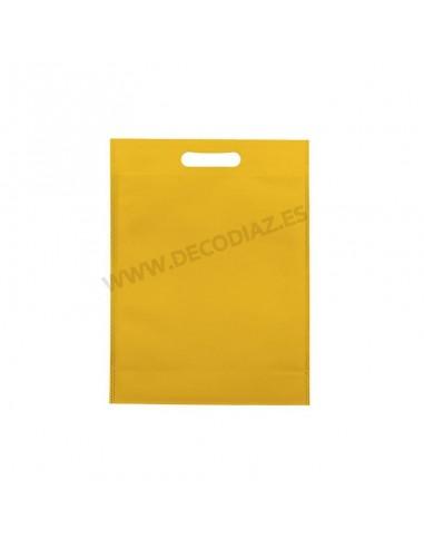 bolsas-amarilla-de-tejido-sin-tejer-asa-troquelada-20x30x10-cm-caja-200uds