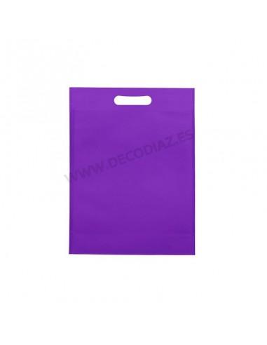bolsas-morada-de-tejido-sin-tejer-asa-troquelada-20x30x10-cm-caja-200uds