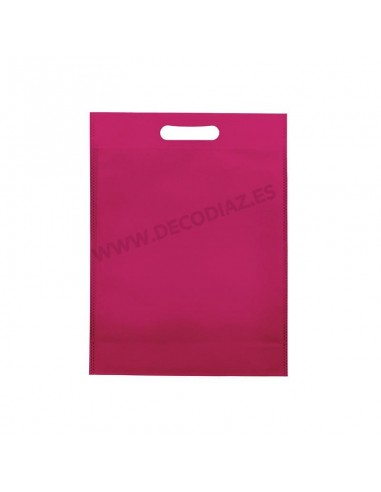 bolsas-fucsia-de-tejido-sin-tejer-asa-troquelada-30x40x10-cm-caja-200uds