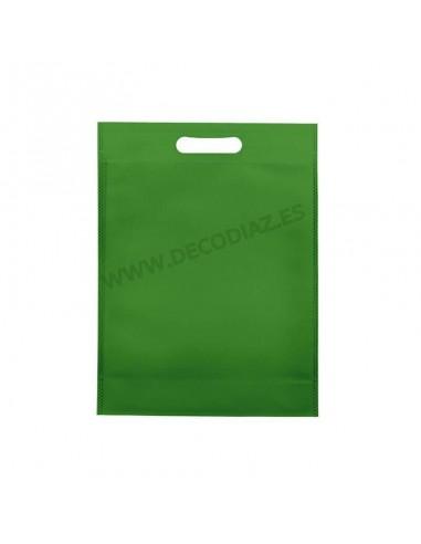 bolsas-verde-de-tejido-sin-tejer-asa-troquelada-30x40x10-cm-caja-200uds