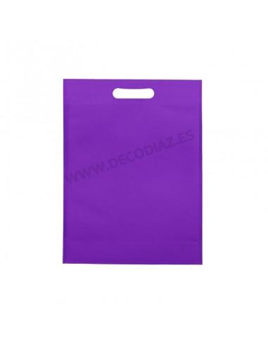 bolsas-morado-de-tejido-sin-tejer-asa-troquelada-30x40x10-cm-caja-200uds
